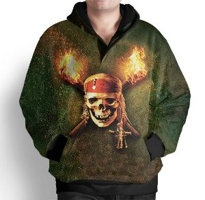 Blusa De Frio Moletom Estampa Full Piratas Do Caribe