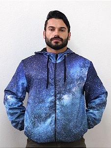 Jaqueta Blusa de Zíper Corta Vento Estampa Full Galaxia