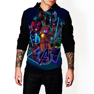 Blusa De Frio Estampa Full Vingadores Ultimato Moletom Unissex