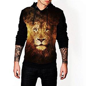 Blusa De Frio Full Estampado Leão Moletom Unissex