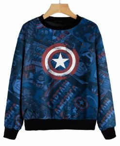 Blusa De Frio Moletom Full Estampado Marvel