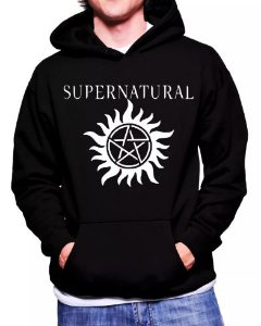 Blusa De Frio Supernatural Estampa Full Moletom Unissex