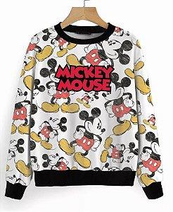 Blusa De Frio Mickey Mouse Estampa Full Moletom Unissex