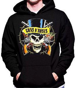 Blusa De Frio Guns N' Rose Estampa Full Moletom Unissex