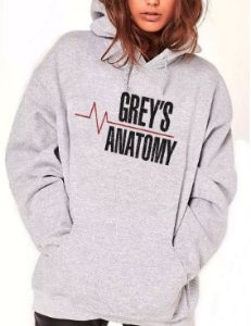 Blusa De Frio Estampa Greys Anatomy Full Moletom Unissex
