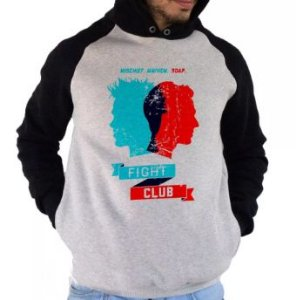 Blusa De Frio Estampa Fight Club Full Moletom Unissex