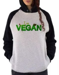 Blusa De Frio Estampa Vegan Full Moletom Unissex