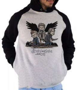 Blusa De Frio Estampa Supernatural Full Moletom Unissex