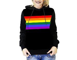 Blusa De Frio Full Estampado Lgbt Moletom Feminino