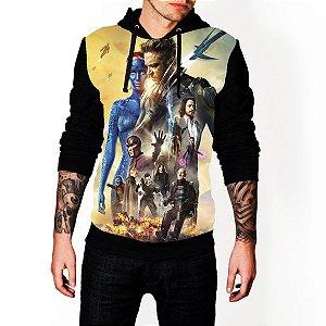 Blusa De Frio Moletom Full Estampado X-men