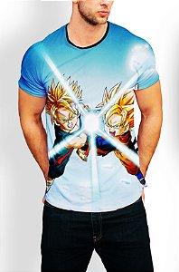 Camiseta Camisa Longline Estampa Dragon Ball