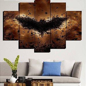Painel Mosaico 5 Partes Morcegos Batman