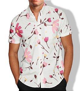 Camisa Masculina Social Flores Lançamento