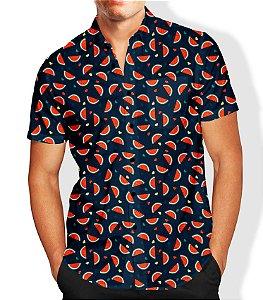 Camisa Masculina Social Melancia Luxo Lançamento