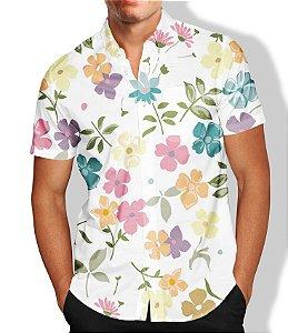Camisa Masculina Social Florida Luxo Lançamento