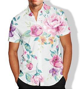 Camisa Masculina Social Lançamento Floral