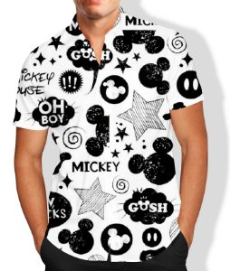 Camisa Masculina Social Mickey Luxo Lançamento