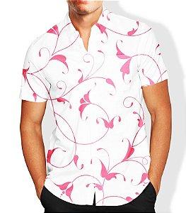 Camisa Masculina Social Floral Luxo Lançamento