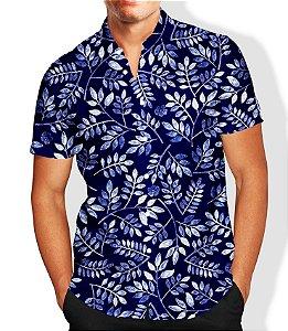 Camisa Lançamento Masculina Estampada Social Flores