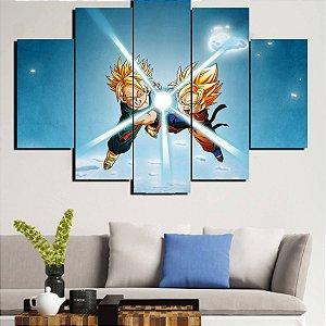 Painel Mosaico 5 Partes Dragon Ball Z
