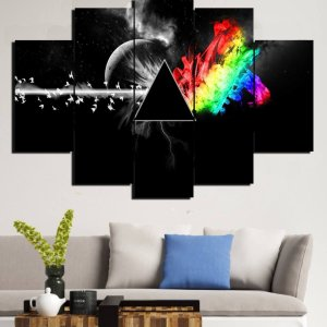 Painel Mosaico 5 Partes Pink Floyd