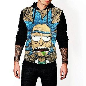 Blusa De Frio Moletom Full Estampado Rick And Morty