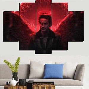 Painel Mosaico 5 Partes Lucifer