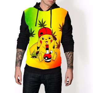 Blusa De Frio Pokemon Picachu Brisa Boing Reggae Estampa Full Moletom Unissex