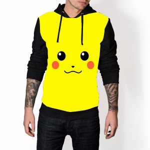 Blusa De Frio Pokemon Picachu Estampa Full Moletom Unissex