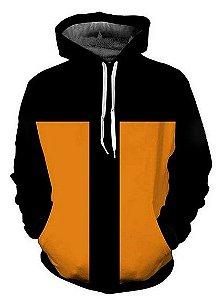 Blusa De Frio Moletom Full Estampado Naruto