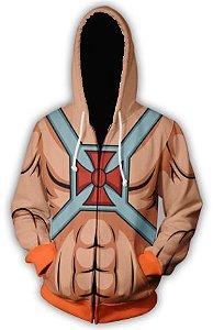 Blusa De Frio Moletom Full Estampado He-Man