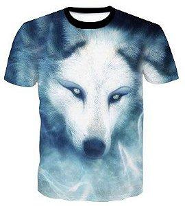 Camisa Camiseta Lobo Gelo