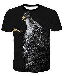 Camisa Camiseta Lobo