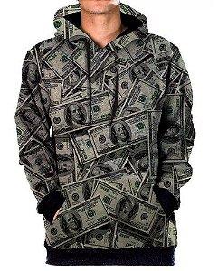 Blusa Agasalho Moletom Full Money Tumblr Swag Dolar