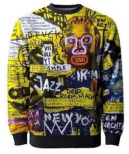 Blusa Moletom Full Retro Basquiat Pixo Graffiti Swag Tumblr Mt