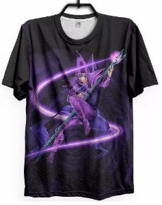 Camiseta Yu Gi Oh Mago Negro Cards Camisa Anime Geek Otaku