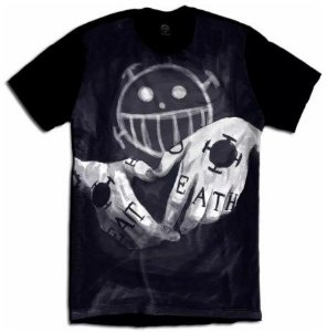 Camiseta One Piece Trafalgar Law Summer Camisa Anime Death