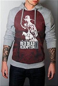 Blusa Moletom Full Red Dead