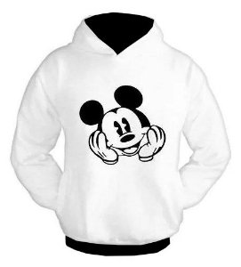 Blusa De Frio Mickey  Estampa Moletom Unissex