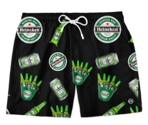 Short Bermuda Ney Moda Praia Mauricinho Heineken