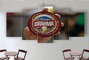 Painel Mosaico 5 Partes Chopp Brahma
