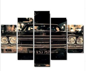 Painel Mosaico 5 Partes Antique car