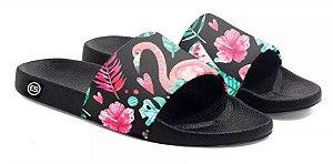 Chinelo Slide Flamingo Floral