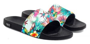 Chinelo Slide Florido