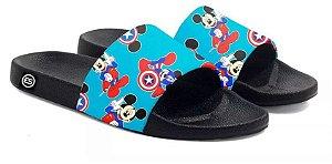 Chinelo Mickey Capitão America Slide Sandalia Unissex Top
