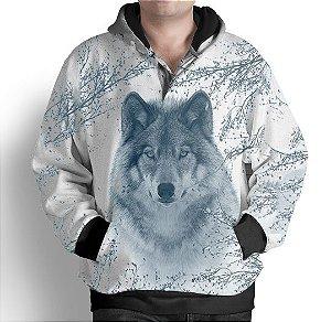 Blusa Agasalho Moletom Full Estampado Lobo