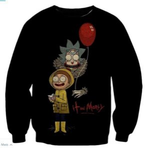 Blusa De Frio Estampa Full Moletom Unissex Rick and Morty