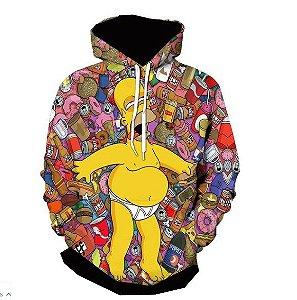 Blusa De Frio Moletom Full Estampado Simpsons