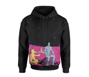Blusa De Frio Galaxia Estampa Full Moletom Unissex