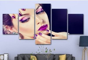 Painel Mosaico 5 Partes Make up